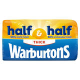 Warburtons Half White Half Wholemeal Thick 800g