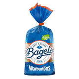 Warburtons Sliced Plain Bagels 5 Pack