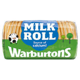 Warburtons Soft Round White Bread Milk Roll 400g