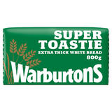 Warburtons Super Toastie Extra Thick Sliced Soft White Bread 800g