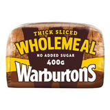 Warburtons Thick Wholemeal Bread 400g