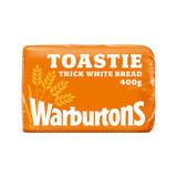 Warburtons Toastie Thick Sliced Soft White Bread 400g