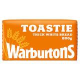 Warburtons Toastie Thick Sliced Soft White Bread 800g