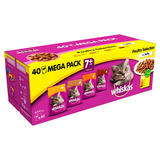 Whiskas Senior 7+ Wet Cat Food Pouches Poultry in Jelly Mega Pack 40 x 100g