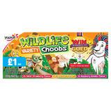 Wildlife Choobs Strawberry, Raspberry and Apricot Flavour Yogurt Tubes 6 x 37g PMP