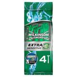 Wilkinson Sword Extra 3 Sensitive Men's Disposable Razors x 4