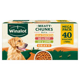 WINALOT Dog Food Pouches Mixed in Gravy 40 x100g