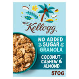 W.K Kellogg No Added Sugar Coconut, Cashew & Almond Granola 570g