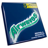 Airwaves Menthol & Eucalyptus Chewing Gum Sugar Free Multipack 3 x 9 Pieces