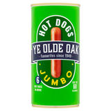 Ye Olde Oak 6 Jumbo Hot Dogs in Brine 560g