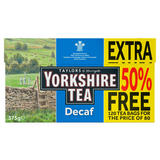 Yorkshire Tea Decaf 80 Teabags +50% Free 375g