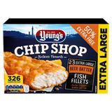 Young's Chip Shop 3 Extra Large Beer Batter Fish Fillets 450g