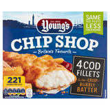 Young's Chip Shop 4 Cod Fillets 400g