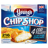 Young's Chip Shop 4 Cod Fillets in our Crisp Bubbly Batter 400g