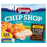 Young's Chip Shop 5 Omega 3 Fish Fillets 500g