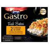 Young's Gastro 2 Fish Bakes Cheese & Leek Chunky Fish Portions 340g