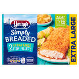 Young's Simply Breaded 2 Extra Large Fish Fillets 300g