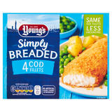 Young's Simply Breaded 4 Cod Fillets 400g