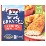 Young's Simply Breaded 4 Haddock Fillets 400g