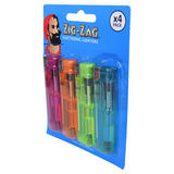 Zig-Zag Electronic Lighters 4 Pack